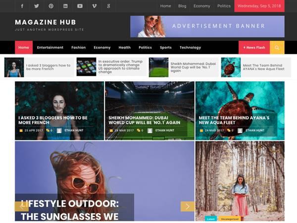 Magazine Hub temas wordpress