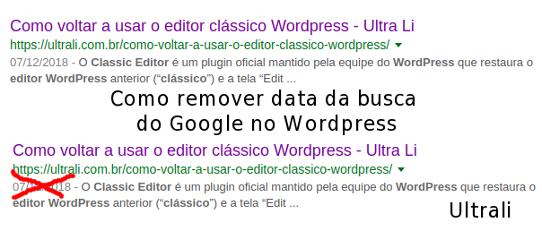 Como remover data da busca do Google no WordPress